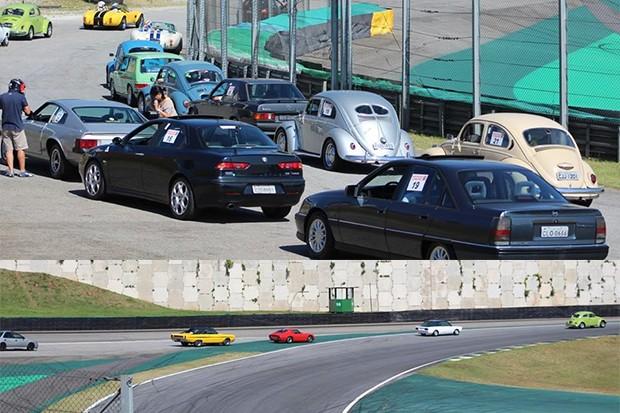 Enfileirados aguardando o sinal verde para ir para pista. (Foto: Divulgação/Edison Guerra Sr)