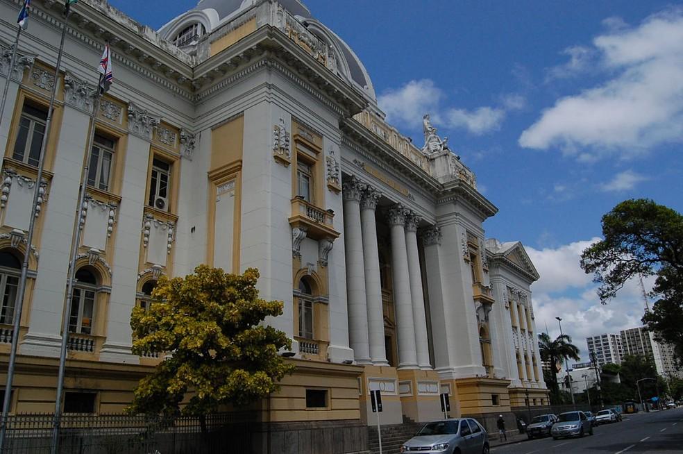 Tribunal de Justiça de Pernambuco (TJPE), no Palácio da Justiça, ná área central do Recife (Foto: Arquivo/G1)