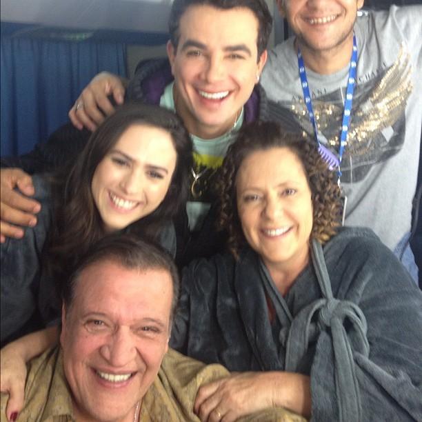 Tatá Werneck, Luis Melo, Anderson Di Rizi  e Elizabeth Savalla em bastidores de gravação de Amor À Vida (Foto: Instagram/ Reprodução)