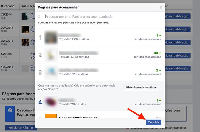 Opção para criar um ranking de comparação de páginas no Facebook (Foto: Reprodução/Marvin Costa)