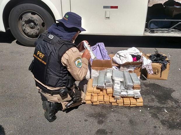 Fiscalização aconteceu em Canguaretama, a 80 quilômetros de Natal (Foto: Divulgação/PRF)