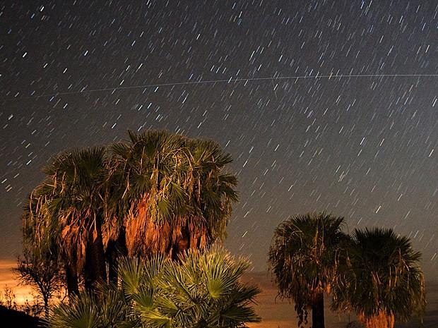 Meteoros Perseidas vistos em 12 agosto de 2008 no estado americano de Nevada (Foto: Ethan Miller/Getty Images North America/AFP)