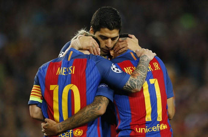 Messi Suárez Neymar Barcelona 2016 (Foto: Getty Images)