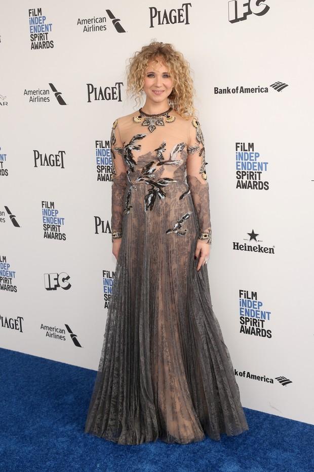 Juno Temple em prêmio de cinema em Los Angeles, nos Estados Unidos (Foto: Jesse Grant/ Getty Images/ AFP)