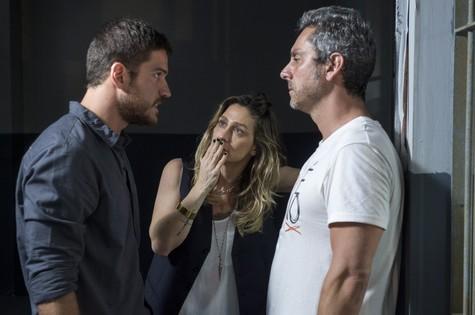 Marco PIgossi, Amora Mautner e Alexandre Nero (Foto: Estevam Avellar/ TV Globo)