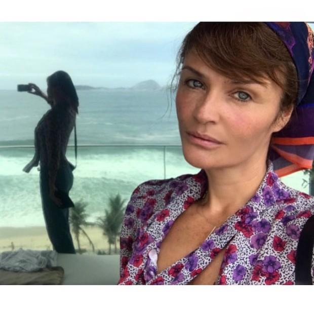 Helena Christensen no Rio de Janeiro (Foto: Reprodução/Instagram)