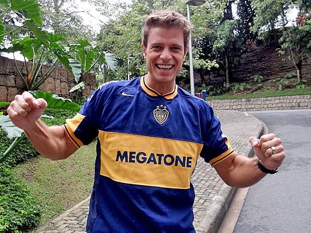 Para Pablo Bellini, o Boca Juniors leva a Libertadores (Foto: Cheias de Charme / TV Globo)