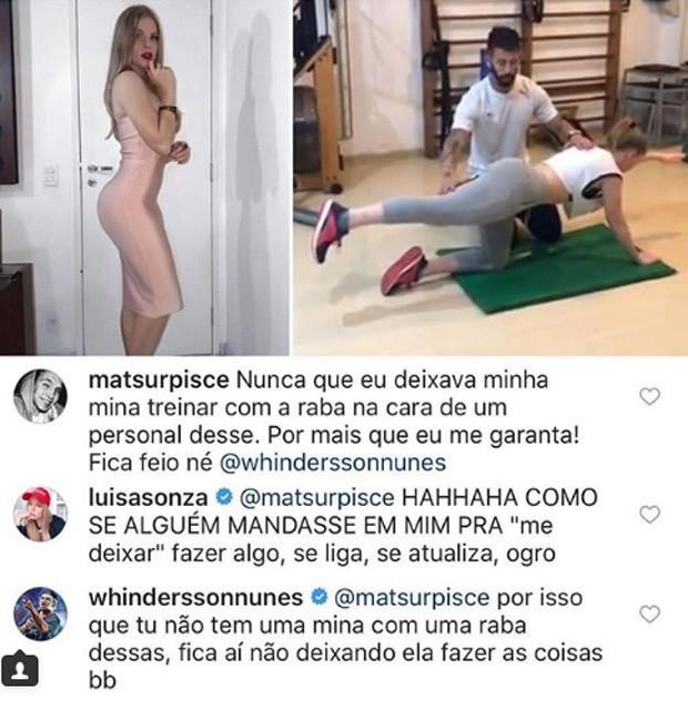 Whindersson Nunes e Luisa Sonza respondem seguidor (Foto: Reprodução/Instagram)