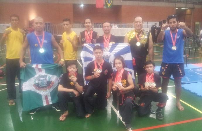 Delegação de MS no brasileiro de kung fu tradicional (Foto: Divulgação)
