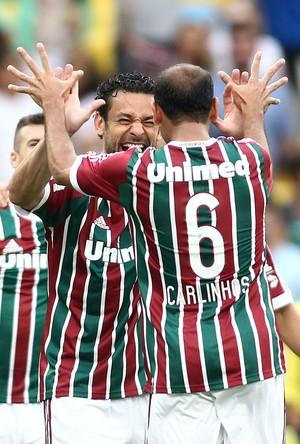 Carlinhos e Fred, Fluminense x Atletico-pr (Foto: Matheus Andrade / Photocamera)