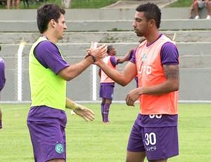 Fumagalli e Robinho, do Guarani (Foto: Reprodução / EPTV)