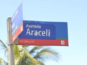 Grupo queria mudança do nome da Avenida Dante Michelini para Araceli (Foto: Marcelo Prest/ A Gazeta)