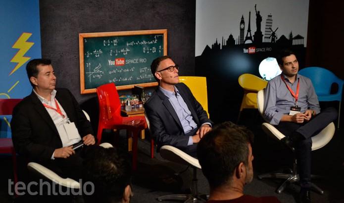 Fabio Coelho, presidente do Google Brasil, e Lance Podell, do diretor global do YouTube Space (Foto: Melissa Cruz/TechTudo)