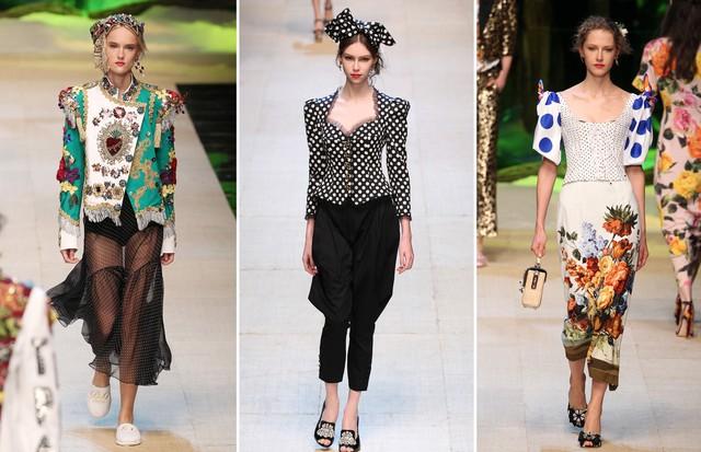 Ombros volumosos: Dolce & Gabbana (Foto: Getty, Antonio Barros, IMax Tree e Reprodução)