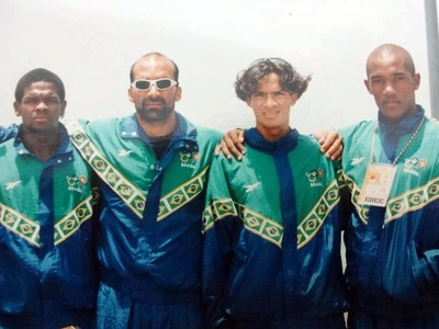 Jefferson Lacerda, baiano que fez parte da primeira delegação da canoagem olímpica do Brasil (Foto: Arquivo pessoal)