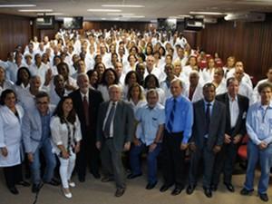 Encerramento da segunda etapa dos Mais Médicos em Salvador, na Bahia (Foto: Divulgação/Sesab)
