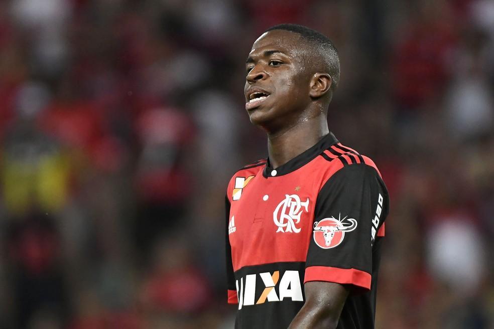 Vinicius Junior durante estreia pelo Flamengo (Foto: Agência Estado)