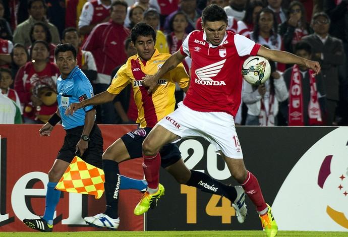 Santa Fé x Morelia pela Libertadores (Foto: AFP)