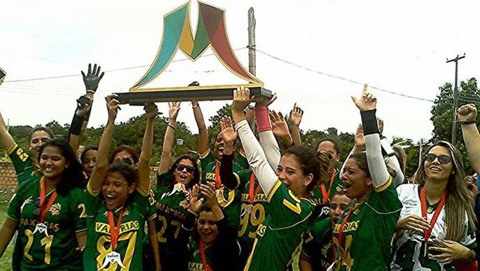 Valkyrias são campeãs da 3ª Taça Manaós de Flag Football, em Roraima (Foto: Reprodução/Facebook)