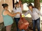 Ação troca itens que serviriam de focos do Aedes aegypti por verduras