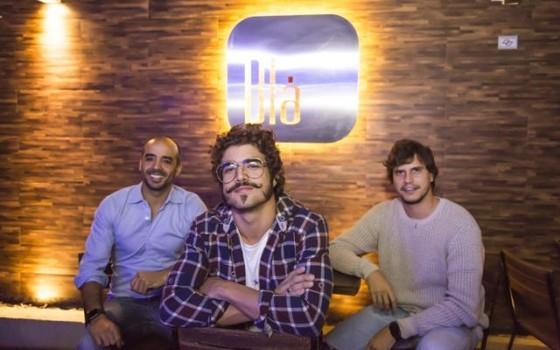 os sócios Pierre Grego, Caio Castro e Pedro Braun do grupo Blá: franca expansão dos negócio do grupo    (Foto: Divulgação)