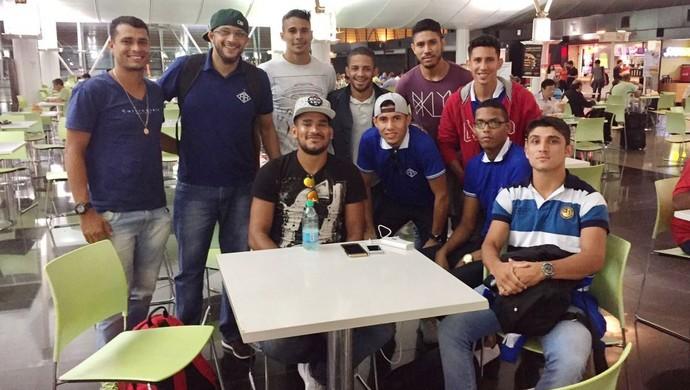 Jogadores do Atlético-AC em Brasília (Foto: Diego Alberto/Arquivo Pessoal)