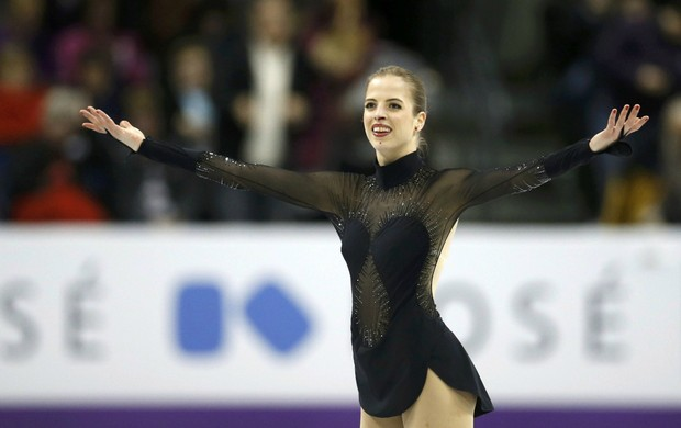 Carolina Kostner no Mundial de Patinação do Canadá (Foto: Reuters)
