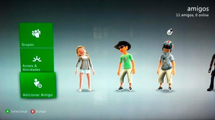 Clique em Adicionar amigo e digite a gamertag (Foto: Reprodução/Tais Carvalho)