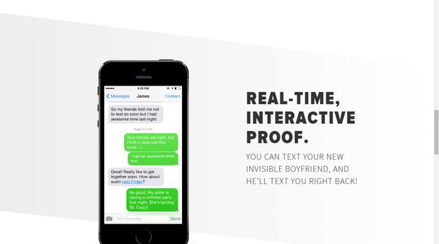 O usuário pode trocar mensagens em tempo real com o namorado virtual (Foto: Divulgação)