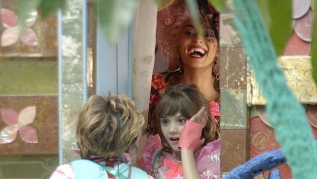 Serelepe está radiante! (Foto: Meu Pedacinho de Chão/TV Globo)