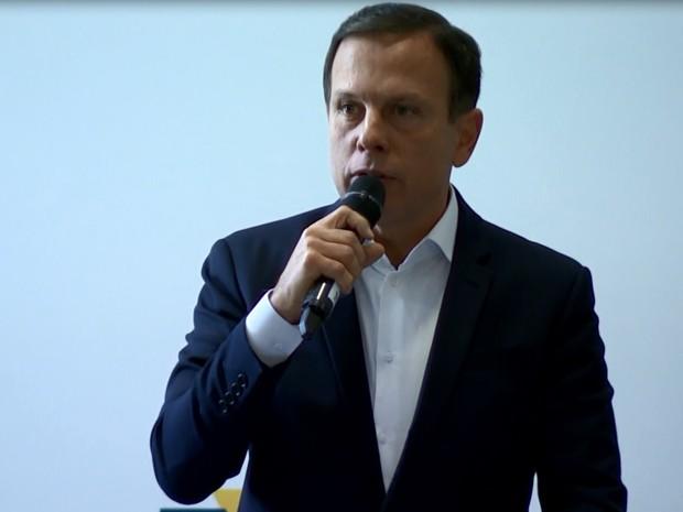 Prefeito eleito de SP em encontro em Campinas (Foto: Reprodução/ EPTV)