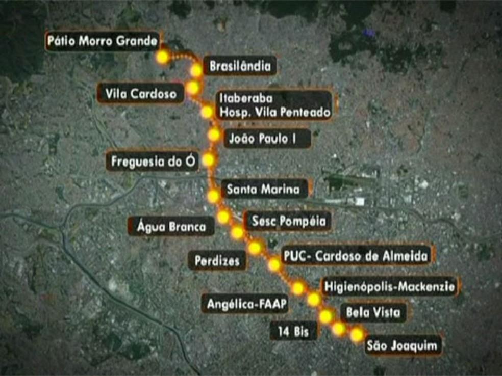 Obra da Linha 6 - Laranja do Metrô foi paralisada há 6 meses por construtora (Foto: Foto: TV Globo/Reprodução)
