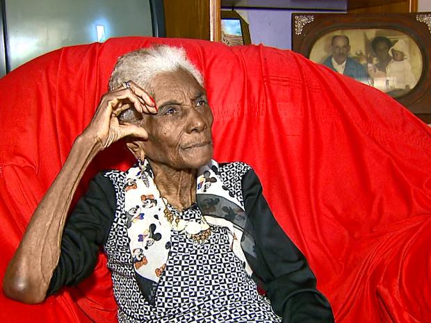Aposentada de Américo Brasiliense tem 112 anos (Foto: Reprodução EPTV)