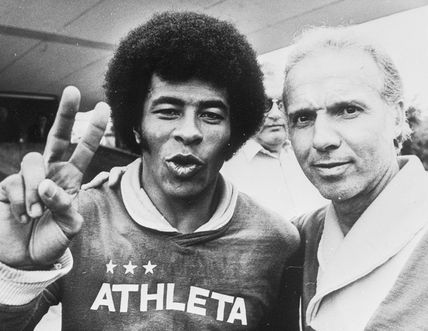 Jairzinho e Zagallo 1974 (Foto: Getty Images)