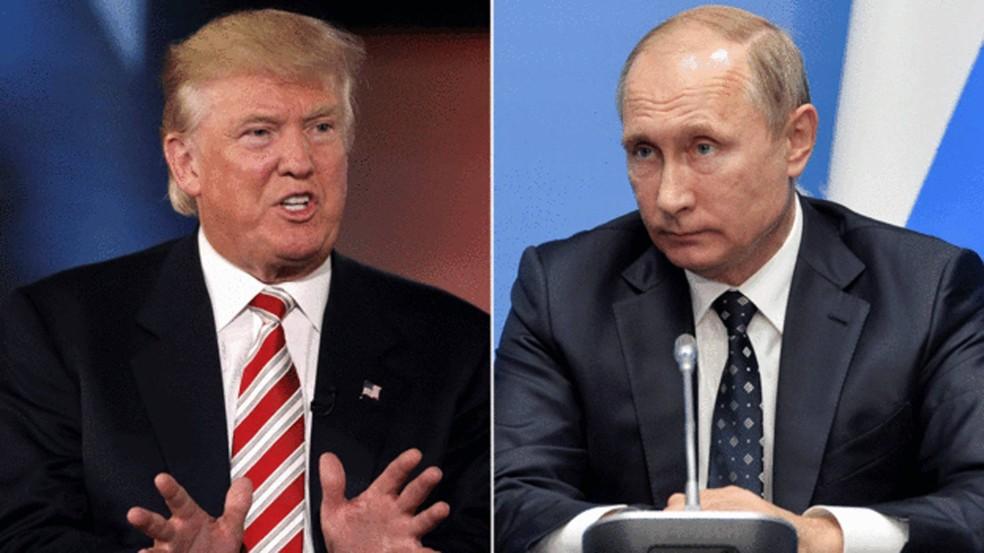 Trump e Putin irão conversar pelo telefone pela terceira vez. (Foto: Associated Press)