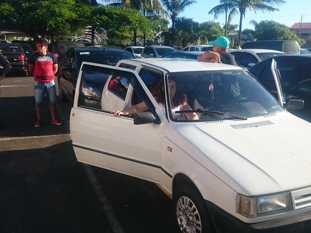 Donos discutiram com segurança e testemunha antes de saírem em Itapetininga (Foto: Caio Gomes Silveira/ G1)