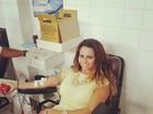 Viviane Araújo doa sangue e incentiva fãs: 'Pela vida'
