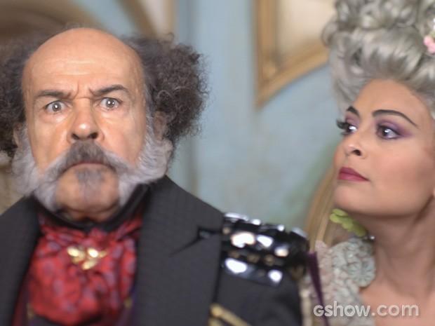 Coronel Epa e Maria Catarina (Foto: Meu Pedacinho de Chão/TV Globo)