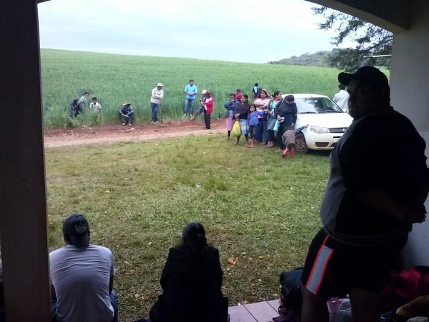 Índios pedem demarcação de terras no Rio Grande do Sul (Foto: Tainara Scalco/RBS TV)