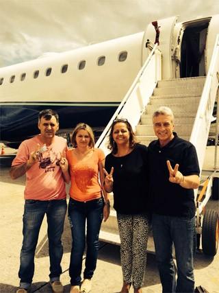 Pais de Marcelo conheceram os pais de Tatiele (Foto: Arquivo Pessoal)