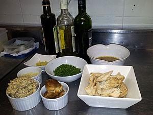 Ingredientes da Polenta com ragu de peru e cogumelos (Foto: Amanda Monteiro/ G1 ES)