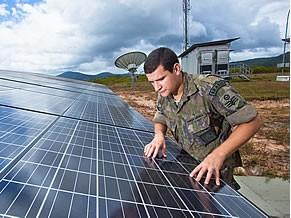 Ao todo, foram instalados 144 painéis solares (Foto: Cabo Silva Lopes/Agência Força Aérea)