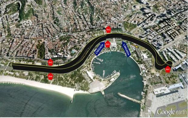 Percurso Ecorrida - Rio de Janeiro (Foto: Reprodução / Google Earth)