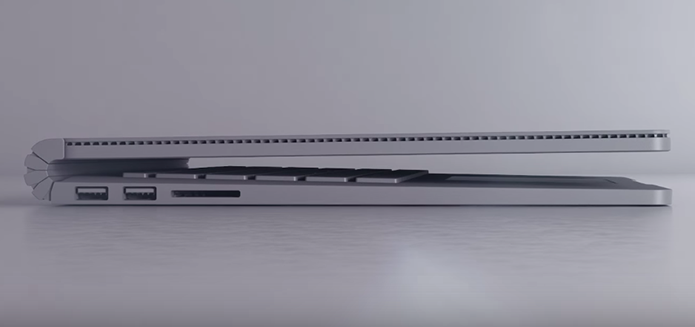 Design do Surface se diferencia por saída de ar na parte do monitor (Foto: Divulgação)