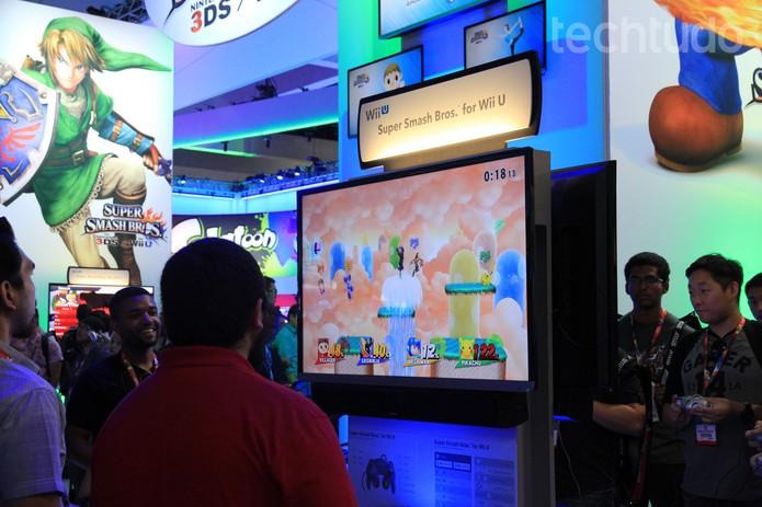 O Nintendo Wii U apresentou novos jogos na E3 2014 (Foto: Isadora Díaz/ TechTudo)