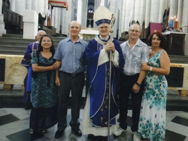 Dom Odilo Scherer com a família, durante o Natal de 2012, em São Paulo (Foto: Arquivo pessoal)
