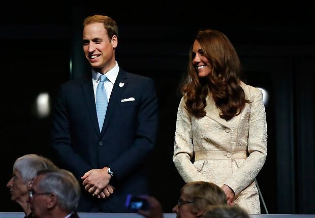 Will e Kate na cerimônia de abertura das paraolimpíadas de Londres 2012 (Foto: AP)