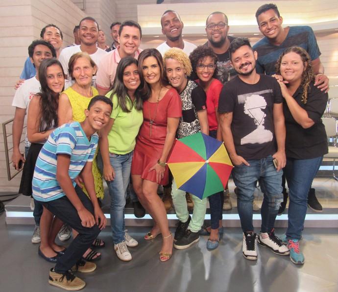 Plateia do Encontro com a apresentadora (Foto: Priscilla Massena/Gshow)