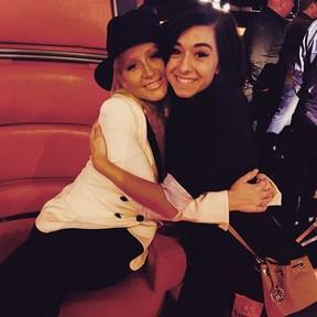 Christina Aguilera e cantora Christina Grimmie (Foto: Instagram/ Reprodução)