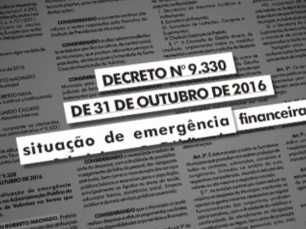 Reprodução do Diário Oficial de Valinhos (Foto: Reprodução EPTV)
